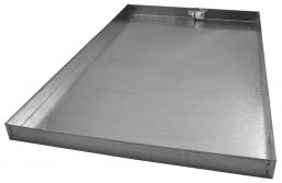 "A4 - Drain Pans - 2"" High - c/w PVC Fitting - 25 x 39"