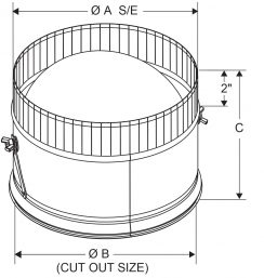 A4 - Spin-In Collars with Damper 4-12 drawing