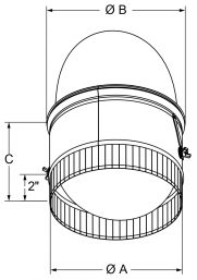 A4 - Spin-In Collars with Damper and Scoop drawing