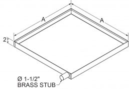 "A4 - Drain Pans 2"" High Side Stub - Left drawing"