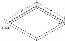 "A4 - Drain Pans 2"" High Bottom Stub drawing"