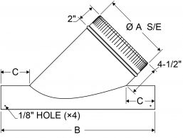 A4 - Saddle Wye Small End drawing