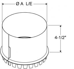 A4 - Tap-In Collars Large End (Starting Collars) drawing