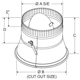 A4 - Conical Spin-In Collars with Damper drawing