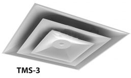 H8 - TMS Lay-In T-Bar square ceiling Diffuser