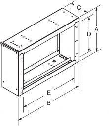Dedicated EAC Filter Frames - Honeywell drawing