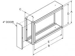 """Filter Frames - 6-3/4"""" wide with 4"""" door drawing"""