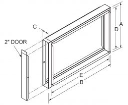 """Filter Frames - 2"""" wide with 2"""" door drawing"""