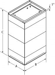 Base Cans - insulated drawing