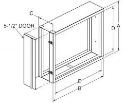 """Filter Frames - 7"""" wide with clip on door drawing"""