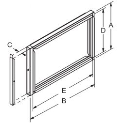 """Filter Frame - 1"""" wide with door drawing"""