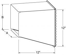 Plenum Take Offs (Unassembled) - Straight drawing