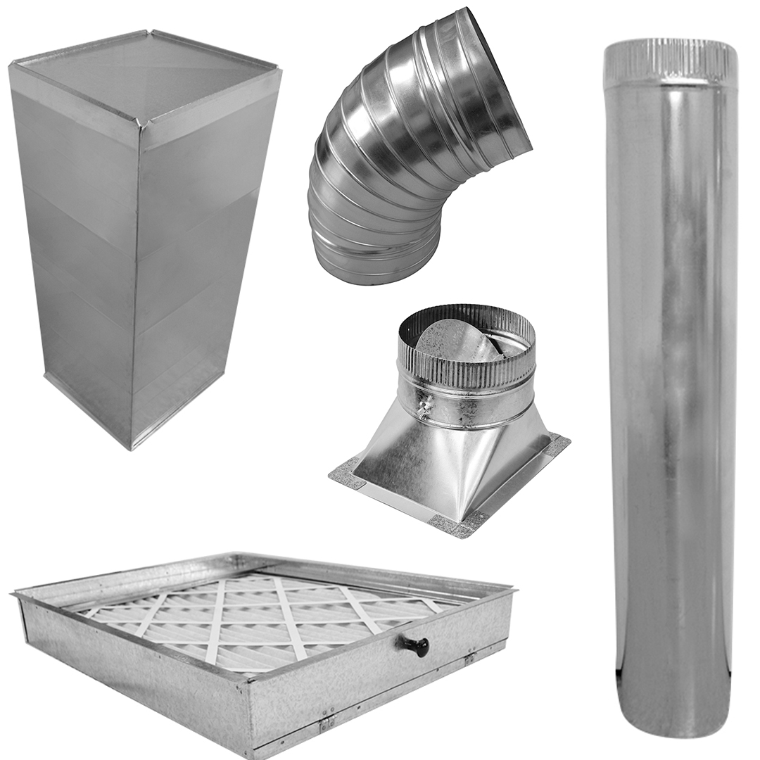 Galvanized Duct, Pipe, Fittings And Elbows Image